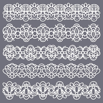 Seamless vintage cotton lace eyelets