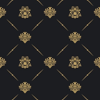 Seamless vintage pattern decor. wallpaper art antique