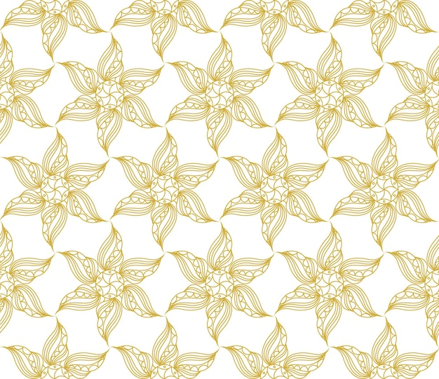Seamless vintage pattern in gold color