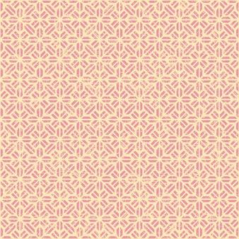 シームレスなヴィンテージピンクのジオメトリの花柄