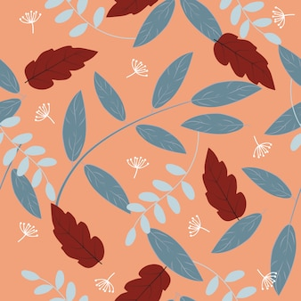 Seamless vintage tropical floral pattern background
