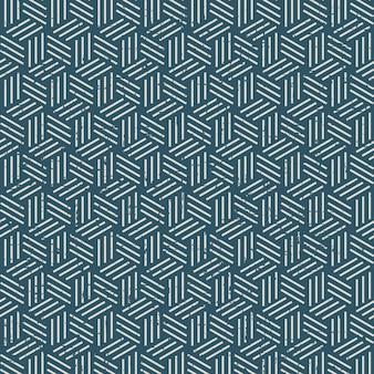 Seamless vintage worn out 3d line box pattern