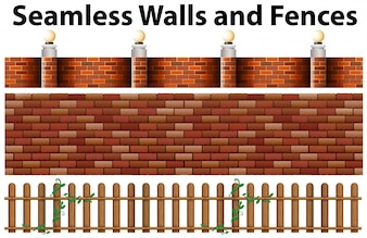 Seamless walls and fences design