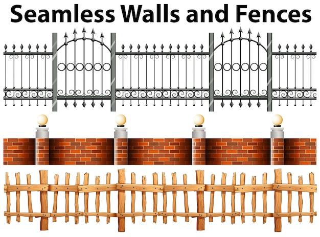 シームレスな壁やフェンス