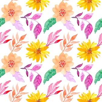 Бесшовный акварельный цветочный образец