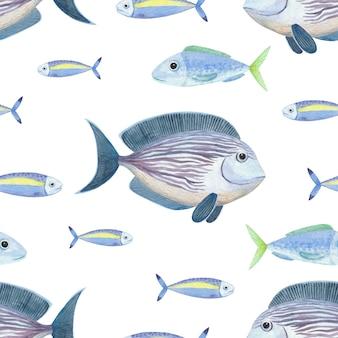 Bluefish와 원활한 수채화 패턴