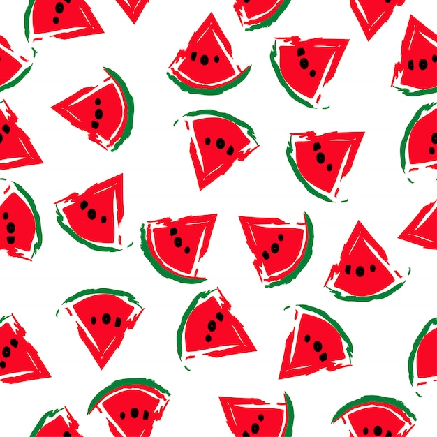 Seamless watermelons pattern image