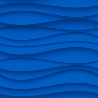 Seamless wave pattern. curved shapes background. regular blue texture