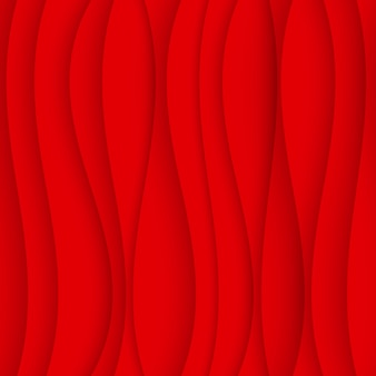 Seamless wave pattern. curved shapes background. regular red texture