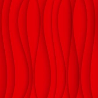 Бесшовные волновая картина. фон изогнутой формы. обычная красная текстура