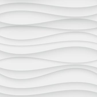 Бесшовные волновая картина. фон изогнутой формы. обычная белая текстура