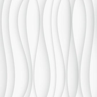 Бесшовные модели волны. изогнутые формы фона. обычная белая волна текстуры
