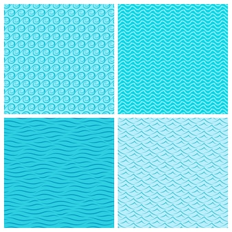 Seamless wave patterns.