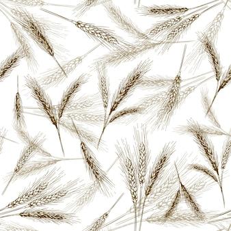 Бесшовный образец уха пшеницы