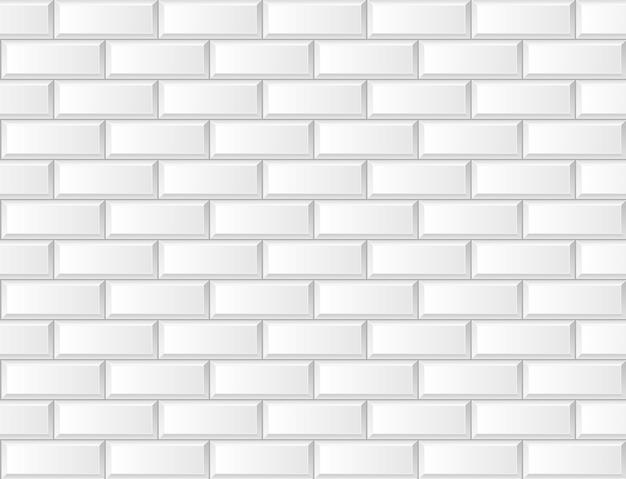 シームレスな白いレンガセラミックタイル北欧スカンジナビアデザインの背景ベクトル壁