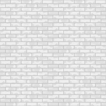 Seamless white brick wall,