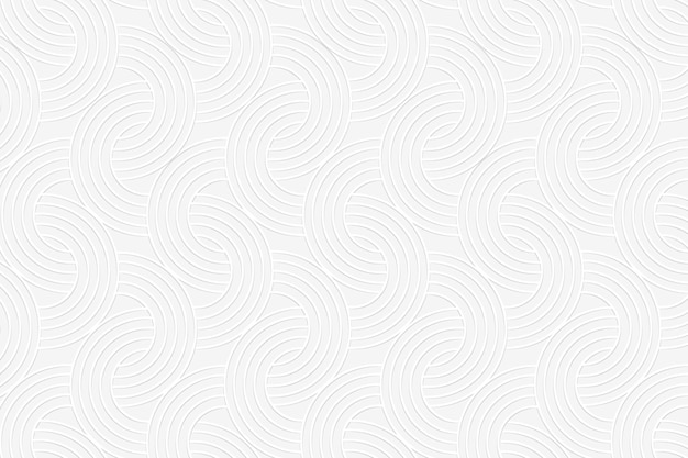 Seamless white interlaced rounded arc patterned background