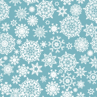 Seamless  with christmas snowflakes.