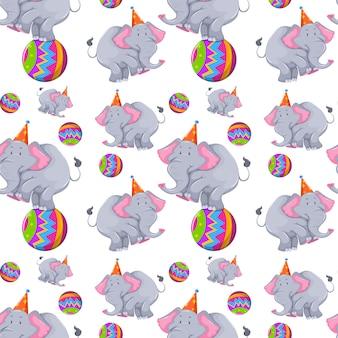 공 패턴에 코끼리와 함께 원활한