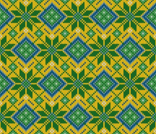 원활한 모직 니트 인도 스웨터 패턴