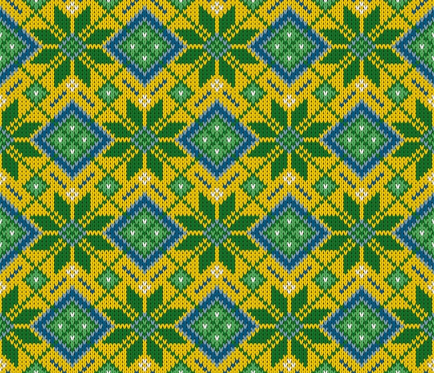 Seamless woolen knitted indian sweater pattern