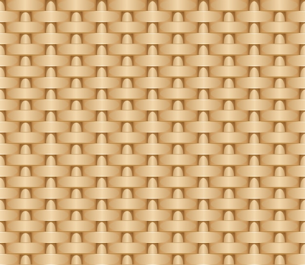 Seamless woven illustration background of straw mat