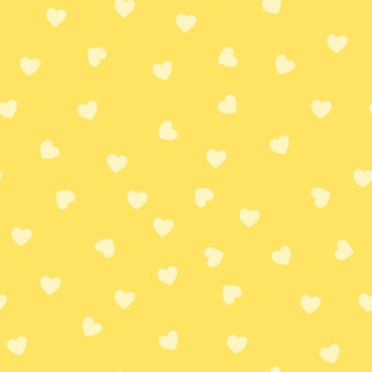 Seamless yellow heart pattern vector