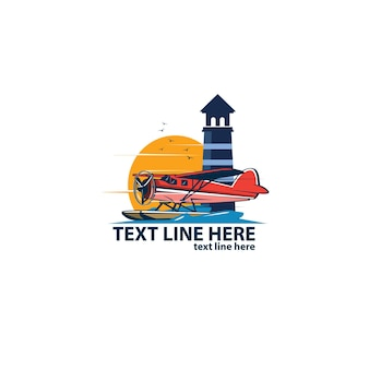 Seaplane and the lighthouse logo
