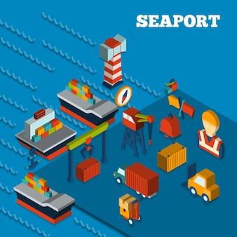 Seaport isometric set