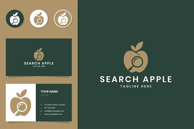 Search apple negative space logo design