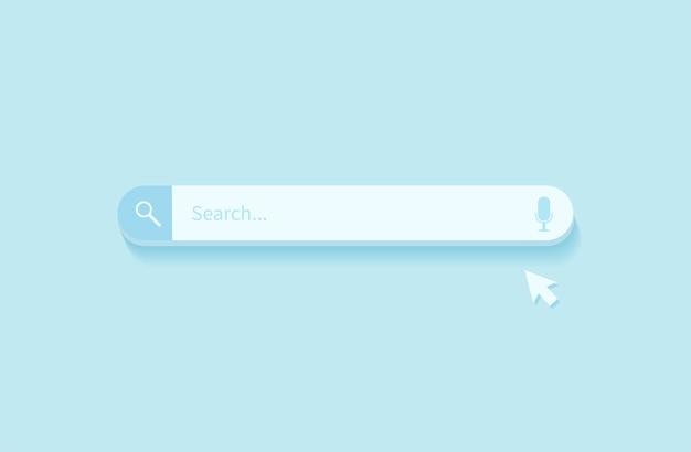 검색 바 디자인 요소. 웹 사이트 및 ui, 모바일 앱용 검색 창.