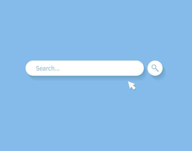 Элемент дизайна панели поиска панель поиска для веб-сайта и мобильных приложений пользовательского интерфейса