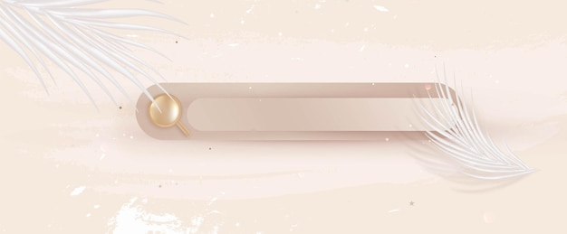 Search bar on nude beige background search concept for website vector