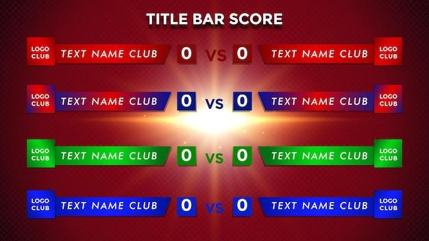 Search bar score bar tv news bar newspaper bar broadcast television media title banner