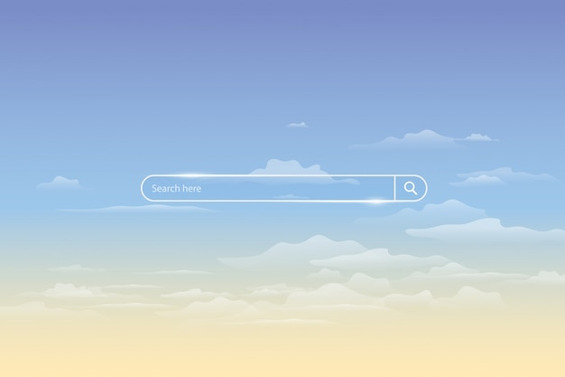 Search bar on sky, simple search box field ui element