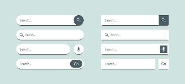Search bar templates design set for ui