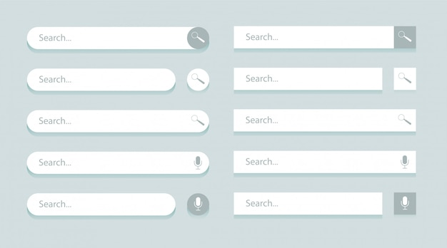Search bar templates for ui, design and web site.