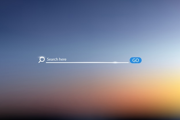 Search bar vector illustration on background of sky