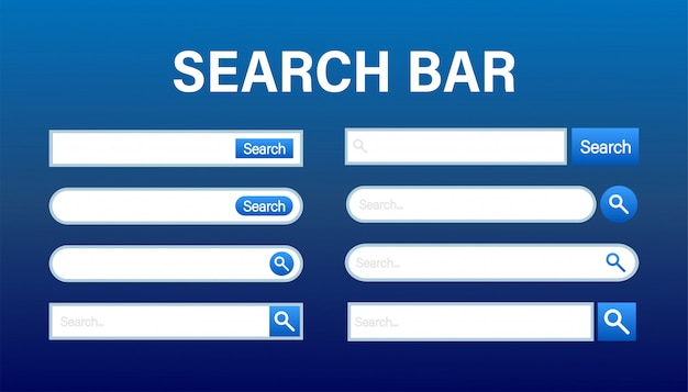 Search bar vector template.