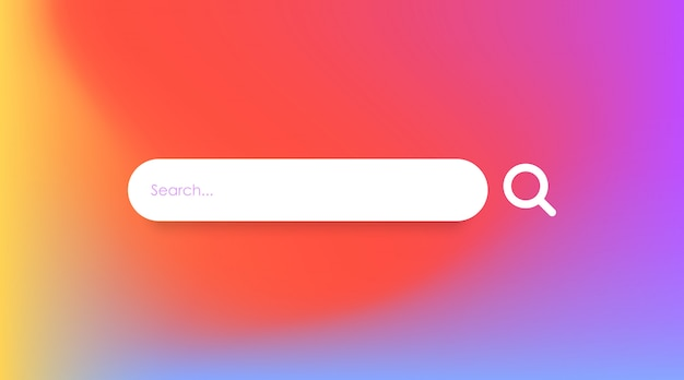 Search box in page template vector