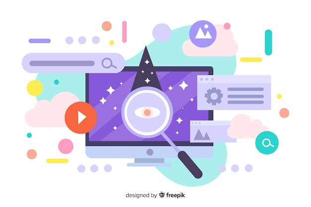 Search concept illustration for landing page