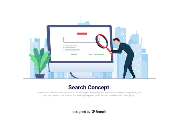 Search concept for landing page