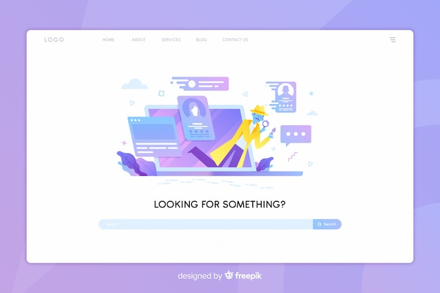 Search concept landing page