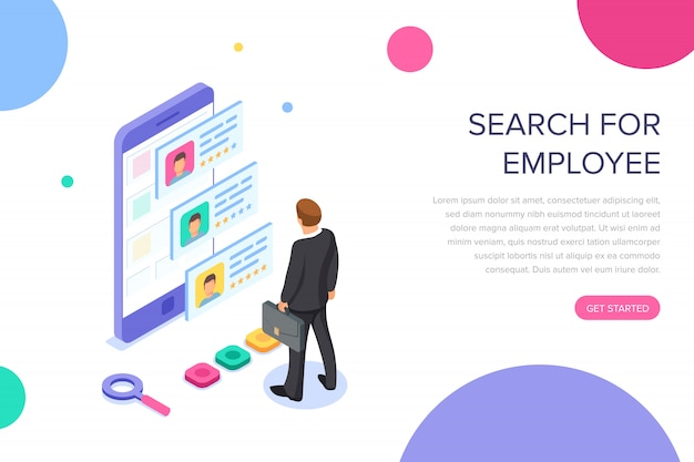 Search for employee landing page
