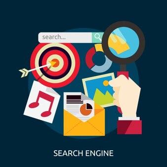 Search engine background design