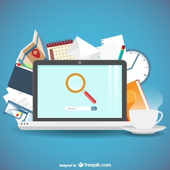 Search engine concept Free Vector