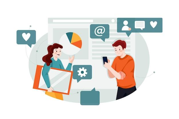 검색 엔진 마케팅 일러스트 컨셉