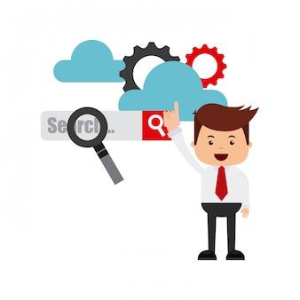 Search engine optimization flat icons