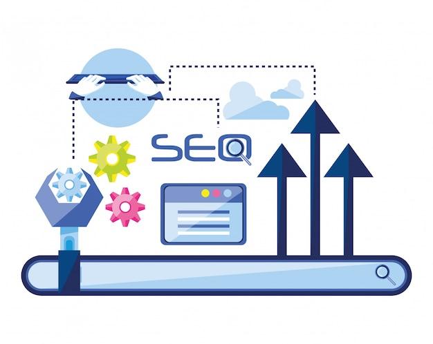 Search engine optimization set icons