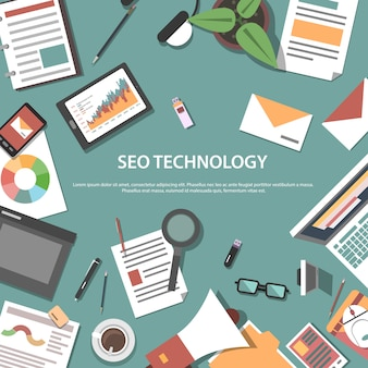 Search engine optimization web concept